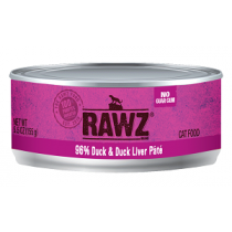 Rawz Cat 96% Duck & Duck Liver Pate 5.5oz Can