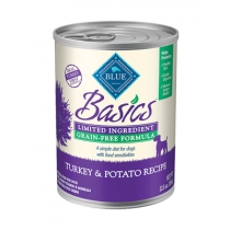 Blue Basics Turkey & Potato Can Dog Food 12.5oz