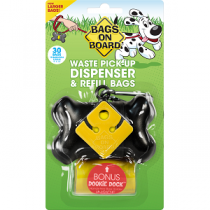 Bags On Board Bone Dispenser with 30 Black Bags