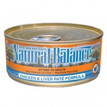 Natural Balance Chicken & Liver Pate Cat Food