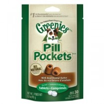Greenies K9 Pill Pockets Peanut Butter-Tab-3.2oz