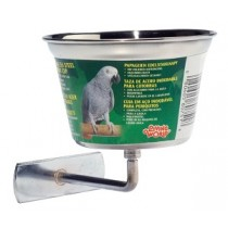 Living World Stainless Steel Parrot Cup - Medium