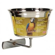 Living World Stainless Steel Parrot Cup - Large
