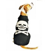 Chilly Dog Sweater - Black Skull