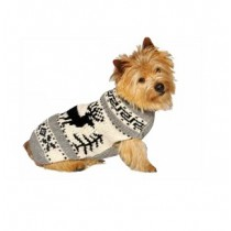 Chilly Dog Sweater - Grey Nordic Reindeer