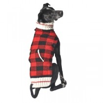 Chilly Dog Sweater - Classics Red Buffalo Plaid
