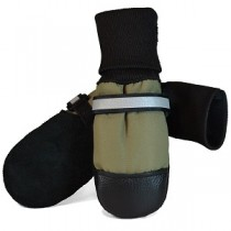 Muttluks - Fleece Lined Dog Boots Green