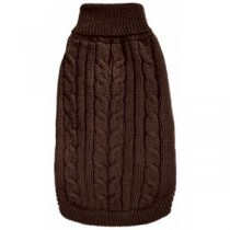 DQ Cable Knit Sweater - Brown