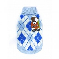 Doggie Q Blue Argyle Sweater