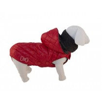 Mosca Quilted Winter Raincoat w/Hood - Red