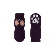 Pawks Anti-Slip Socks - Grape Argyle