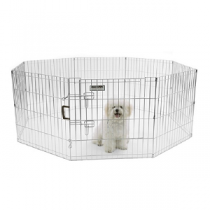 Precision Silver Deluxe Play Yard Exercise Pen